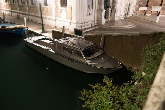 Shadows of Venice Tour: Funeral boat near the hospital
