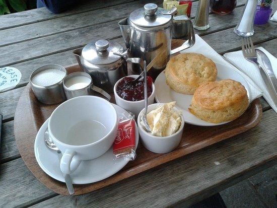 The Hunters Inn: The infamous clotted cream teas...