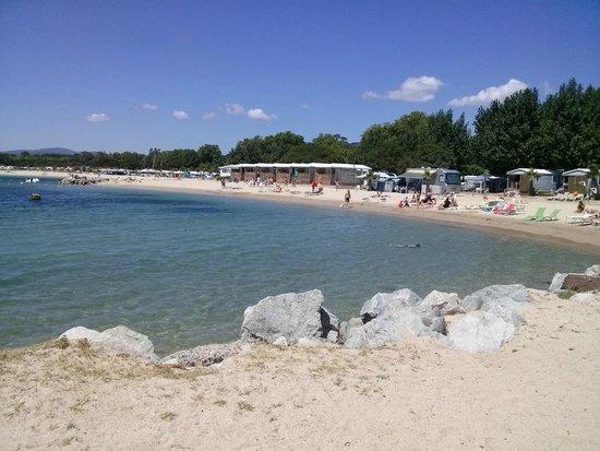Les Mûres : Spiaggia del Camping