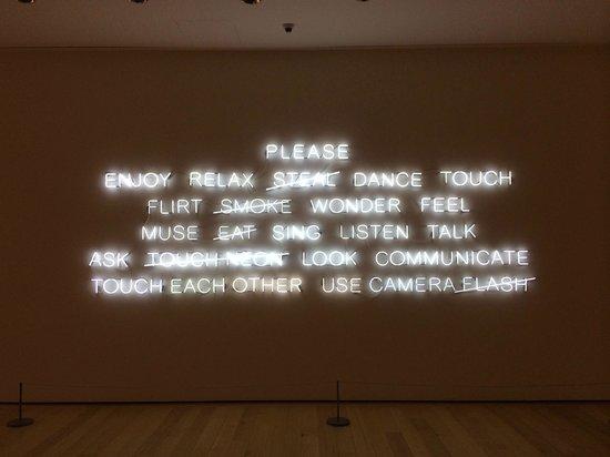Museum of Fine Arts: Lobby Neon
