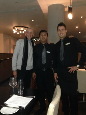 City Cafe: our waiter and chef