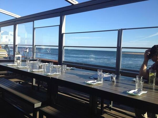 The Waterfront Restaurant: Amazing views from the terrace