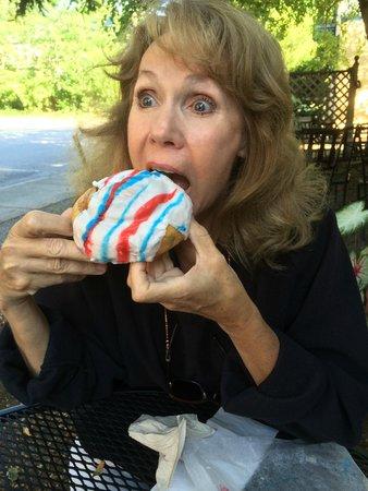 My cinnamon roll 'fix' from Black Mountain Bakery, July 4 2014
