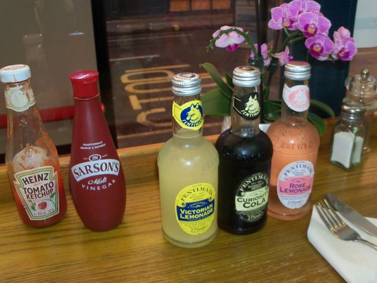 Baileys Fish and Chips: Local beverages -- very tasty.  Try the Rose Lemonade!