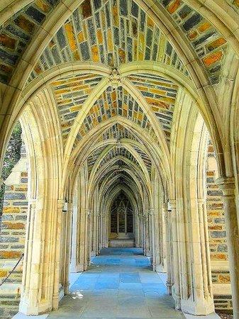 Duke University Chapel: covered walkway to chapel