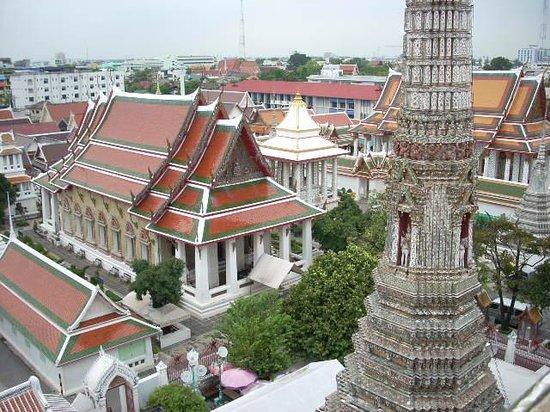 Temple de l'Aube (Wat Arun) : vue du haut du temple