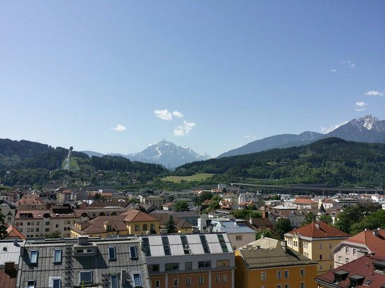 Hilton Innsbruck: Beautiful scenery from the balcony, just outside my room