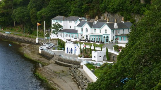 Portmeirion Village : View from shell house