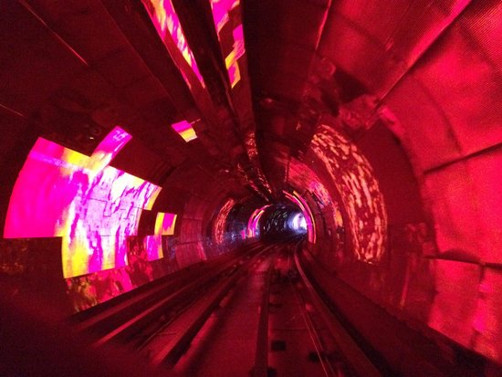 Bund Sightseeing Tunnel: psychedelic