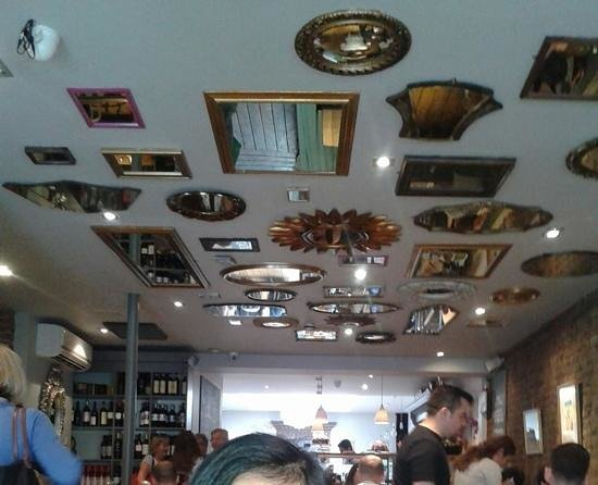 Blue Legume Mirrors On The Ceiling