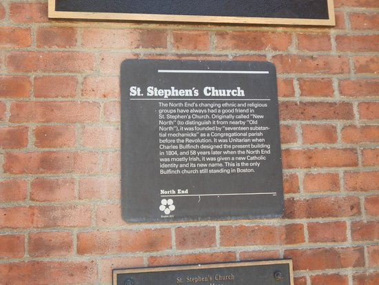 St. Stephen's Roman Catholic Church : plaque in front of church