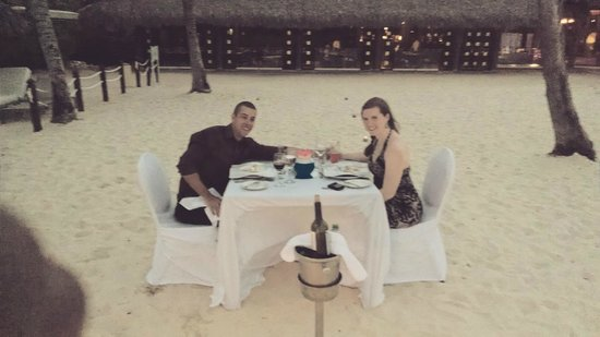 Paradisus Punta Cana: Private dinner on the beach outside La Palpa.  Very romantic