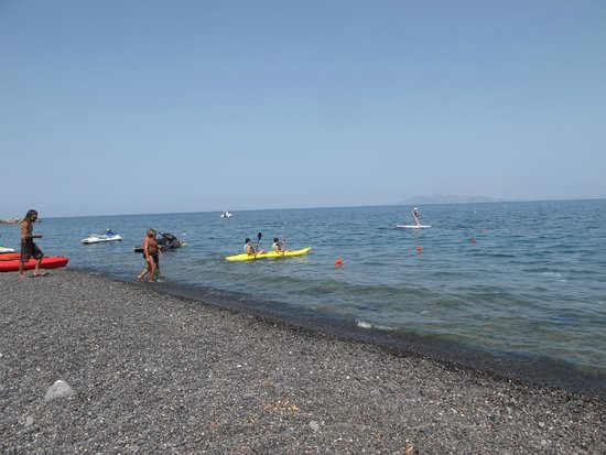 Hotel Matina: Water activities on Kamari Beach including Stand Up Paddling now! Yay!
