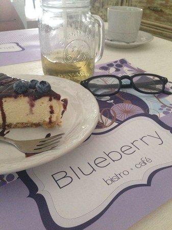 Blueberry Cafe: pay de queso con Blueberry