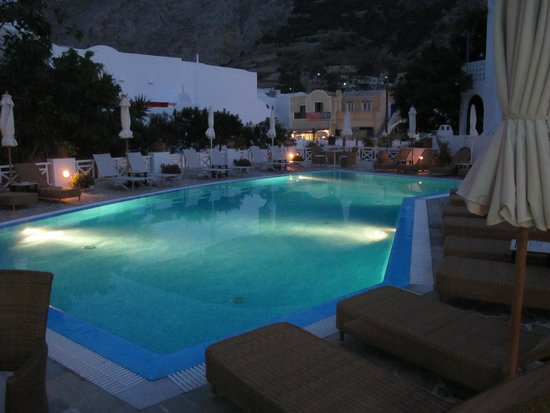 Magical Hotel Matina pool at night!
