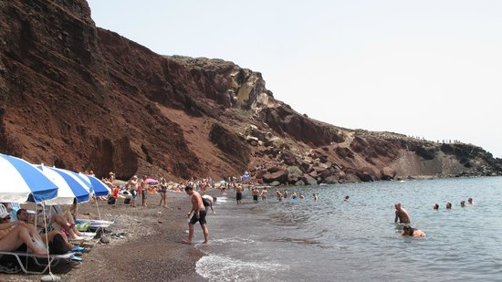 Hotel Matina: Red Beach - be careful going & coming down the rocks!