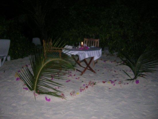 Bandos Maldives : Cena romántica