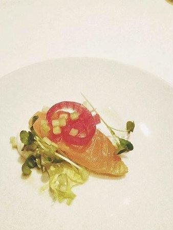 Scaramouche Restaurant: Salmon Amuse Bouche