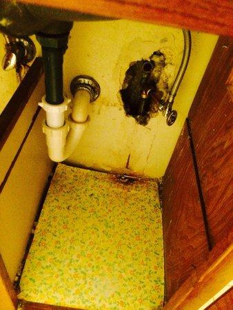 كازابلانكا أون ذا بيتش: Underneath the bathroom sink