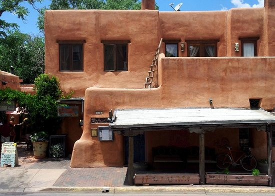 Pink Adobe: front exterior