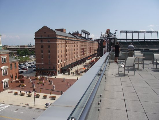 Hilton Baltimore: View of Camden Yards from Hotel