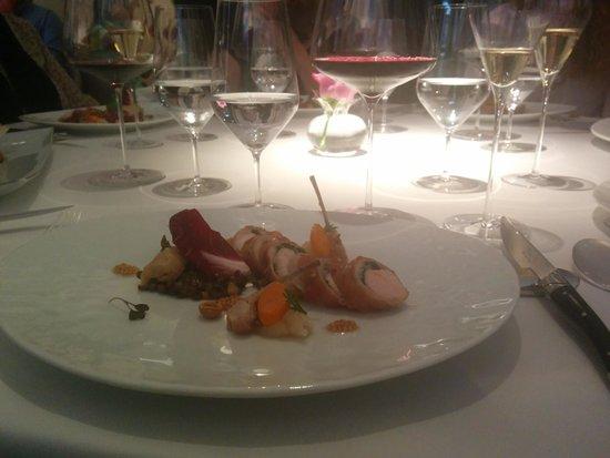 Restaurant Gordon Ramsay: the rabbit on the lunch menu