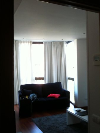 Aspasios Arago Executive Apartments: Not really that flattering but a picture of the lounge
