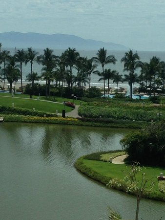 Mayan Palace Nuevo Vallarta : View of Banderas Bay and beach from room.  Great sunsets!
