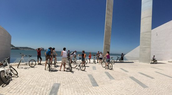 Lisbon Bike Tour : The final stop of the tour - in Belem