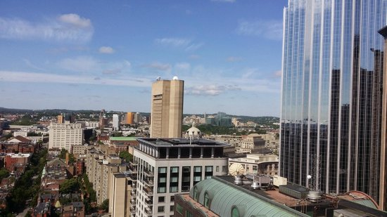 Boston Marriott Copley Place: Beautiful view from corner room on floor 25
