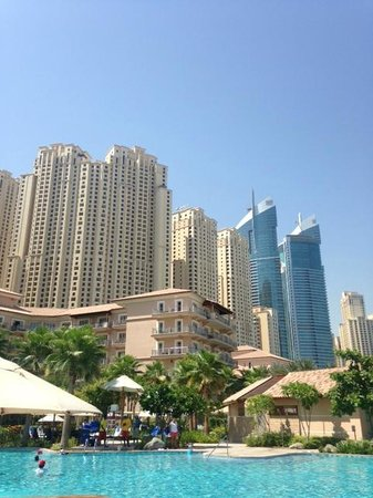 The Ritz-Carlton, Dubai : View of hotel showing the much higher non Ritz buildings behind