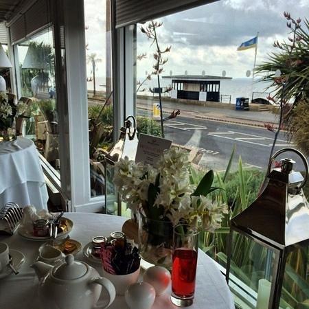 Roslin Beach Hotel: views from the breakfast table