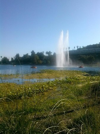 Echo Park: Famous fountain