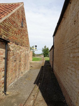 Kirkby Green, UK: Part of the farm's miniature rail network (!)