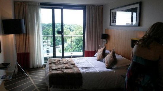 ABode Chester: Room 414 with balcony looking over racecourse