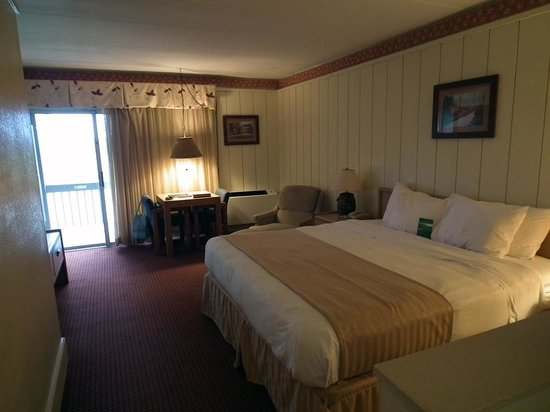 Salt Fork Lodge and Conference Center: Our room on level 2 B wing, woods side