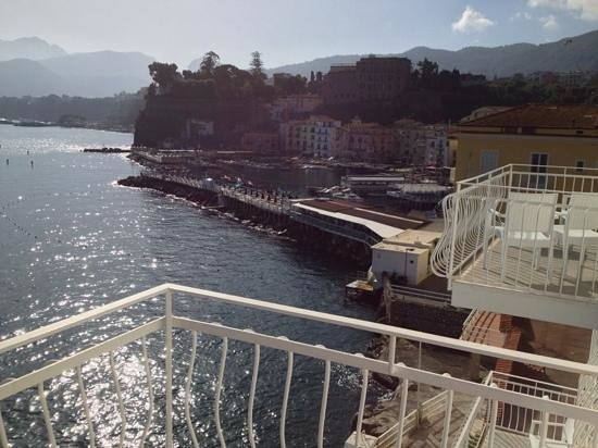 Hotel Admiral Sorrento : view from the balcony.