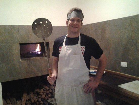 Pizzeria Cahuita: il pizzaiolo.....