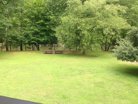 Pipestem Resort State Park: View from the balcony of our room