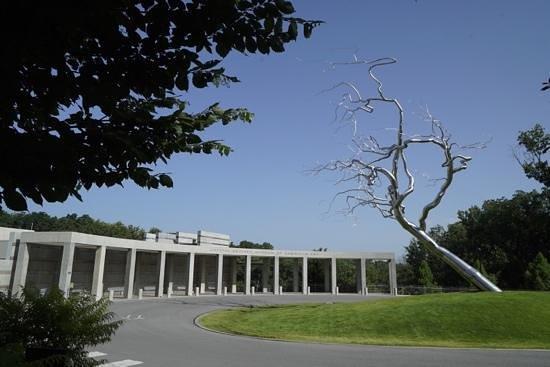 Crystal Bridges Museum of American Art: the entrance