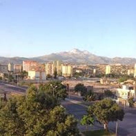 Gevher Hotel: Mount Erciyes. View from our room, no. 401