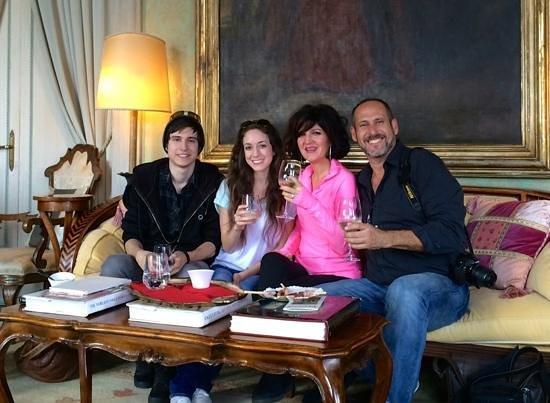 Casa de Uscoli : Our welcome at the Palazetto Pisani