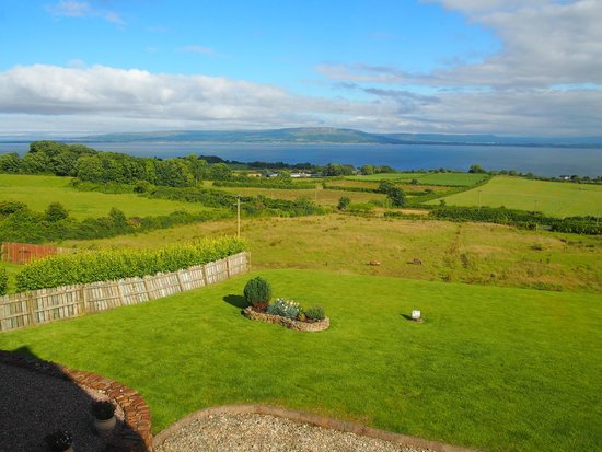 Inishowen Lodge: The view from our bedroom.