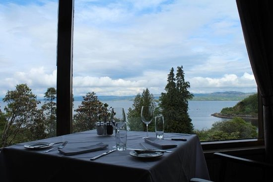 Stonefield Castle Hotel view from Restaurant