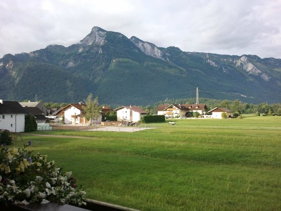 Haus Steiner: View from our room of Untersberg which you can ascend by cable car