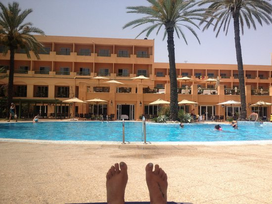 Hotel Vendome El Ksar Resort & Thalasso : View from a lounger