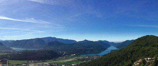 Kurhaus Cademario Hotel & Spa: Midday panoramic view