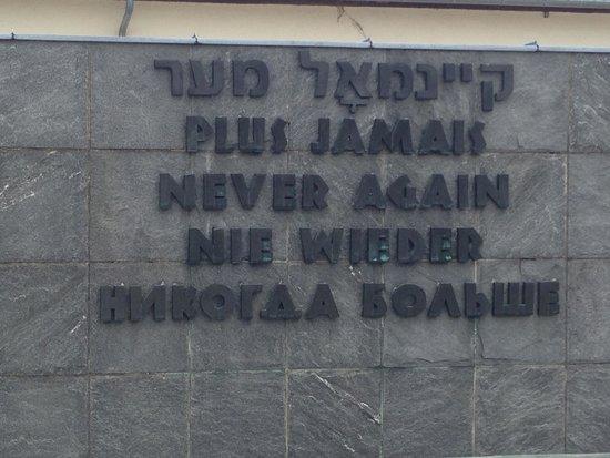 """In Their Shoes Dachau Memorial Tours: Memorial... """"Never Again"""""""