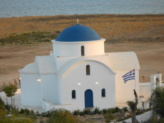 Constantinou Bros Pioneer Beach Hotel: Could see this lovely church from our balcony