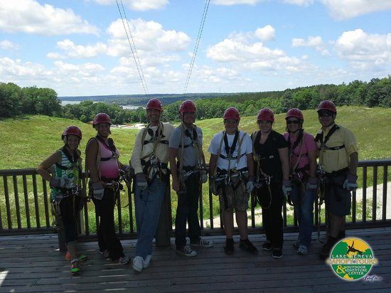 Cove of Lake Geneva : Canopy Tours Zip lining